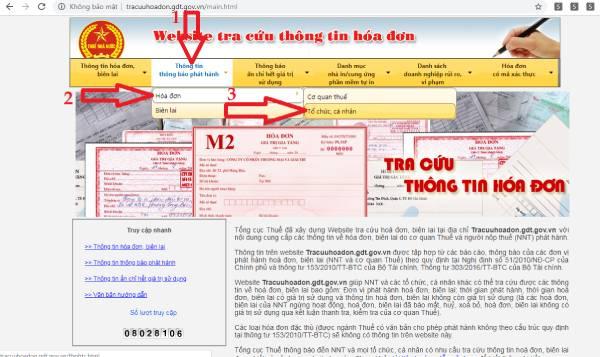 tra cứu hóa đơn tổng cục thuế